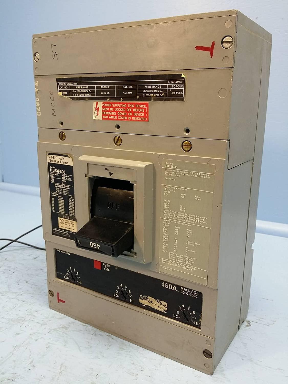 I-T-E Siemens HL63F600 600A Circuit Breaker w/ 450 A Trip & Shunt 600V HL6 ITE