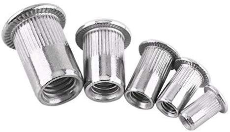 20-piece flat head metric thread blind rivet nut, M3 M4 M5 M6 M8 Insert stainless steel nut nut screw (M6)