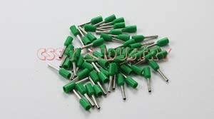 Davitu Terminals - 100pcs E50-25 tubular wire connector electrical terminals cable crimps wire ferrules For 50.0mm2, terminal electricos VE50-25 - (Color: 100PCS green)