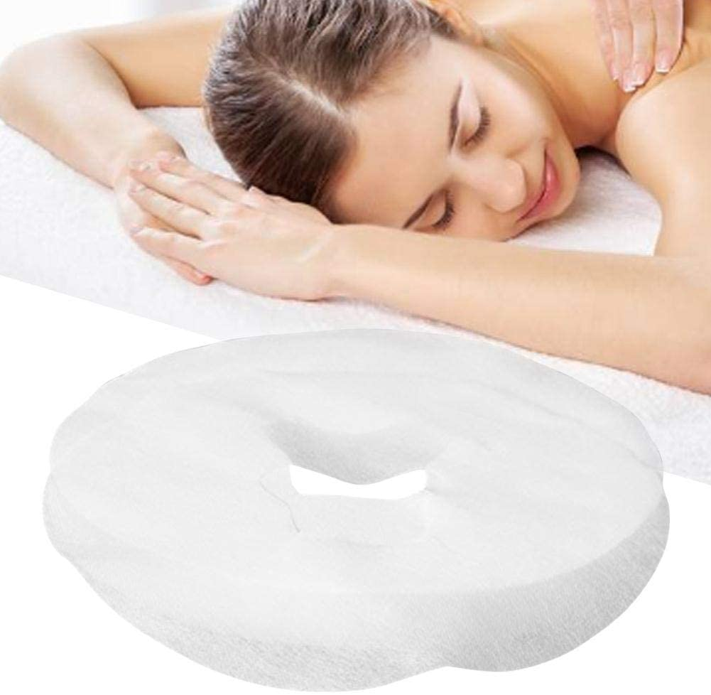 100PCS Disposable Face Cradle Covers Headrest Covers Non-Sticking Massage Face for Massage Table Facial Bed Waxing Bed Doctors' Offices Spas Ultra Soft, Luxurious