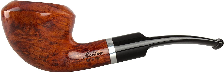 Molina Barasso Brilliant 105 Tobacco Pipe - Bent Rhodesian