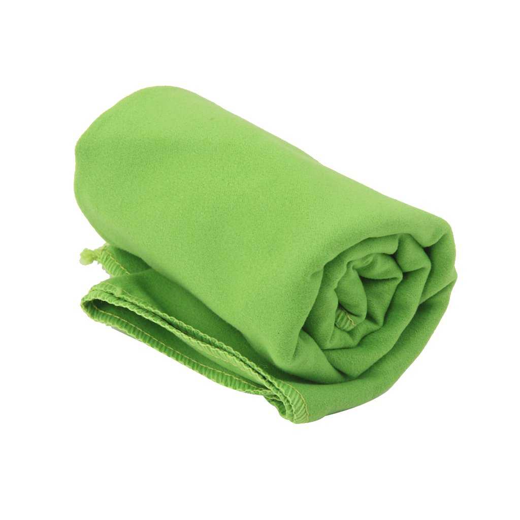 LOVIVER Microfiber Towel Sports Bath Gym Quick Dry Travel Swimming Camping Beach Drying - Green
