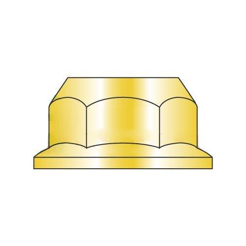 M10-1.5 Hex Flange Locknuts/Non-Serrated/Class 8/Zinc Yellow/DIN6923 (Carton: 1,000 pcs)