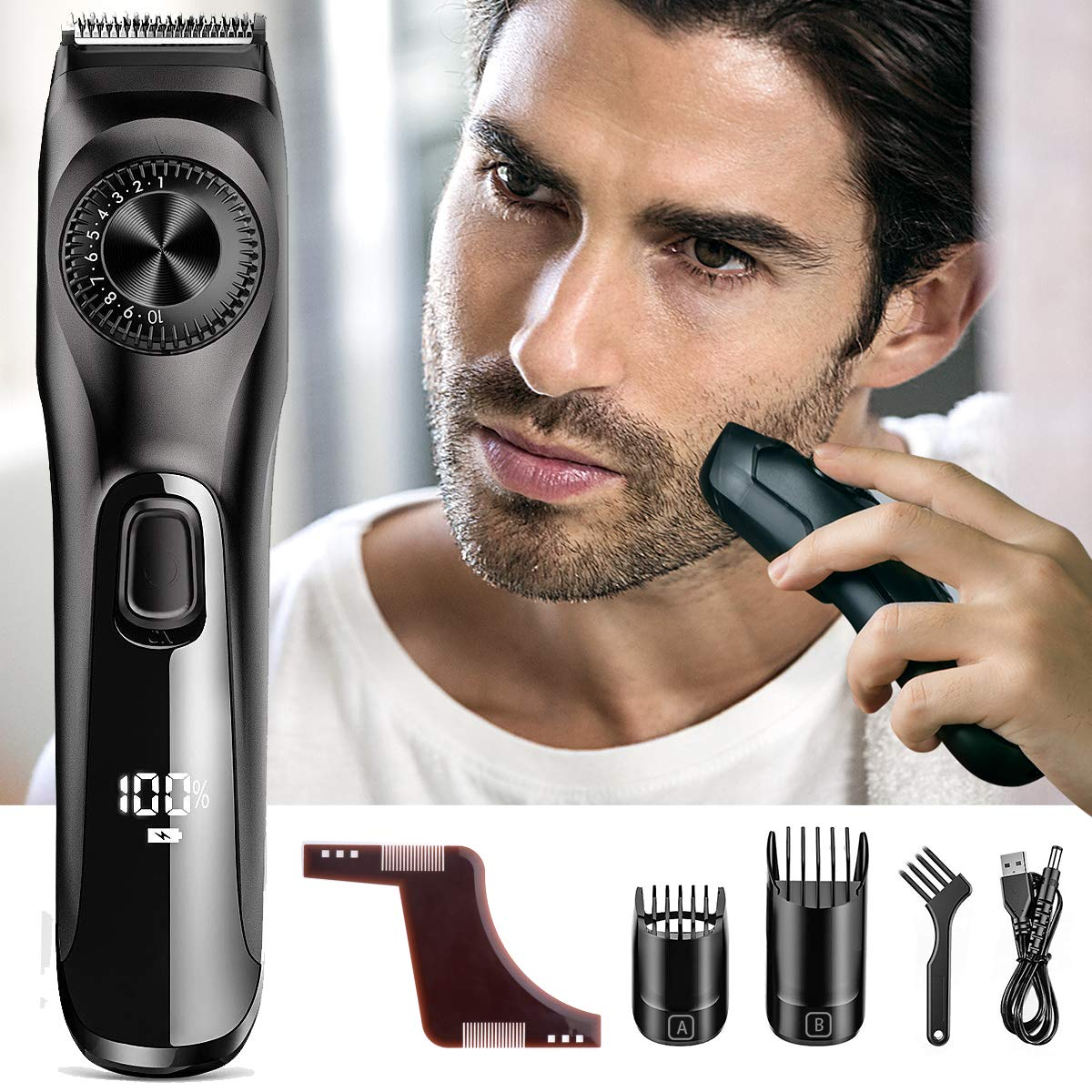 Beard Trimmer For Men Orihea 4th Gen Body Groomer With Mustache Trimmers Facial Hair Trimmer 39 Built In Precise Lengths All In One Beard Kit With Beard Shaping Styling Tool Usb Fast Charging Clippers Trimmers