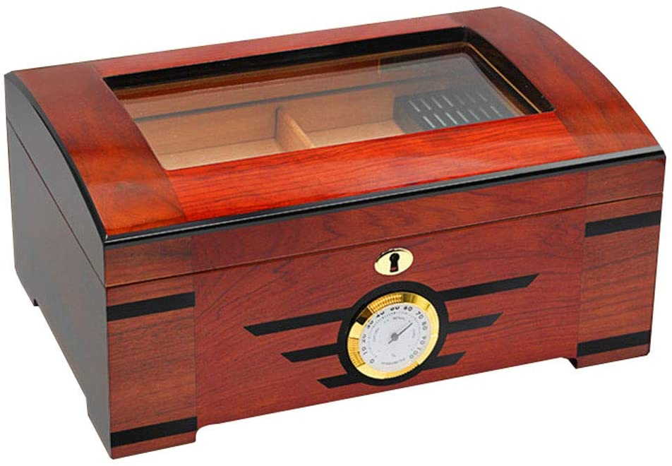 Cigar Humidors - Portable Cigar Box Cedar Wood Fragrance Professional Solid Wood Cigar Box Cigar Cabinet Double Layer Design Size: 350x240x150mm Spanish Cedar Storage Container