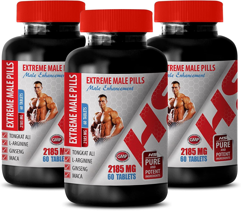 libido max for Men - Extreme Male Pills - Male Enhancement - tribulus terrestris maca Ginseng - 3 Bottles 180 Tablets
