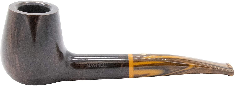 Savinelli Tigre 145 KS Smooth Dark Brown Tobacco Pipe