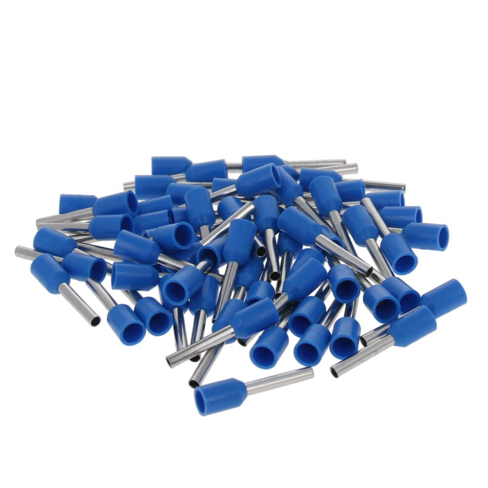 Fielect AWG18/1.0mm² Wire Copper Crimp Connector Insulated Ferrule Pin Cord End Terminal for VE1010 Model Blue 1000Pcs