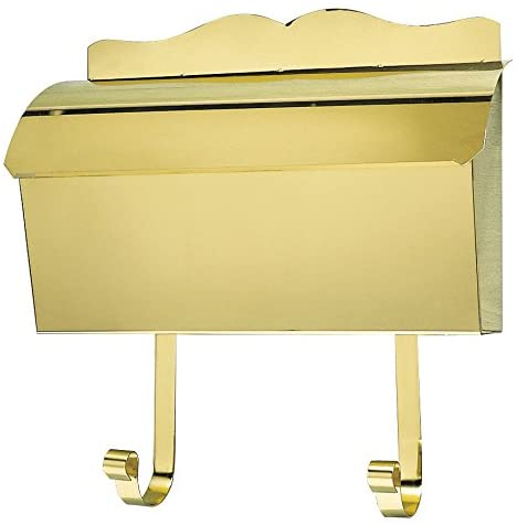 Qualarc MB-900-PB Provincial Collection Polished Brass Wall Mount Roll Top Mailbox
