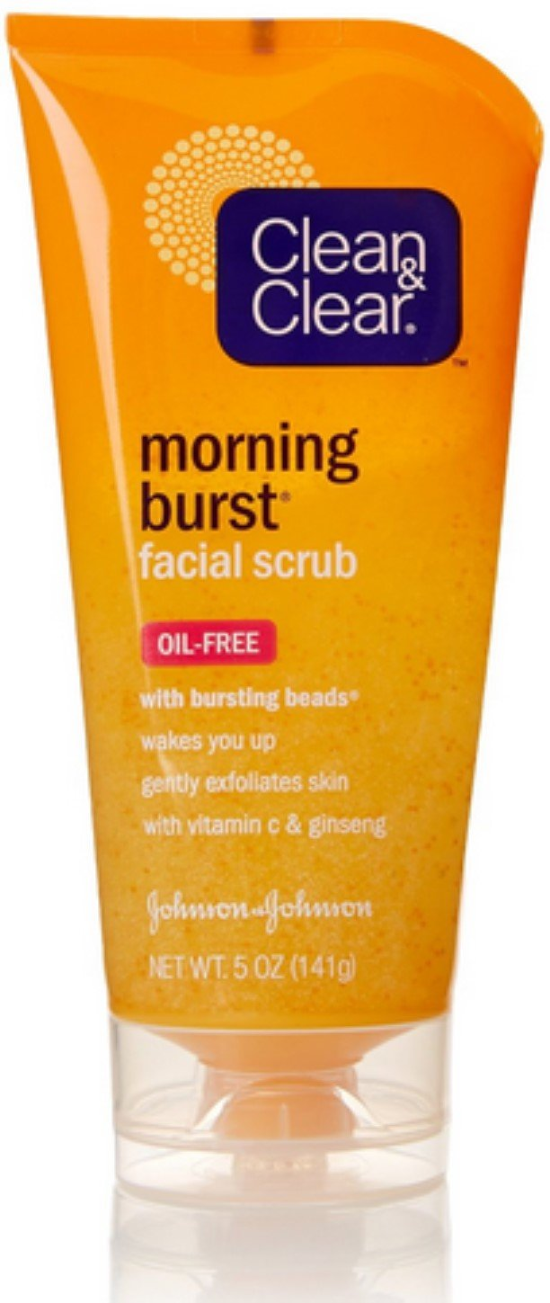 CLEAN & CLEAR Morning Burst Facial Scrub Oil-Free 5 oz (Pack of 3)