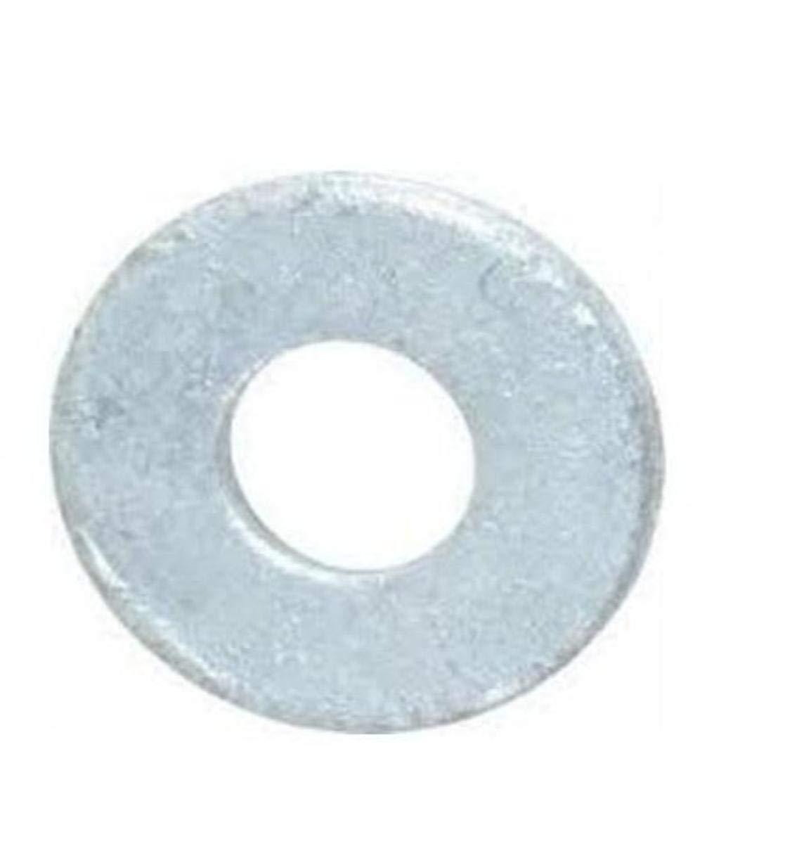 Steel Flat Washer, Hot-Dipped Galvanized Finish, ASME B18.22.1, 5/8