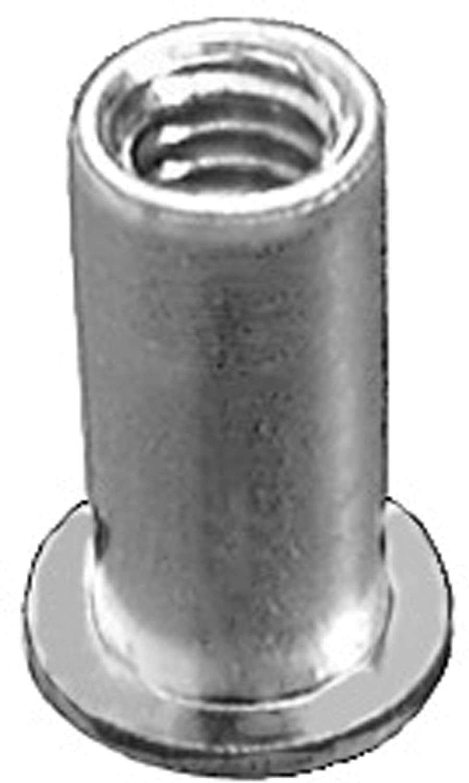 25 1/4-20 U.S.S. Large Flange Thin Sheet Aluminum Nutserts Grip Range .080