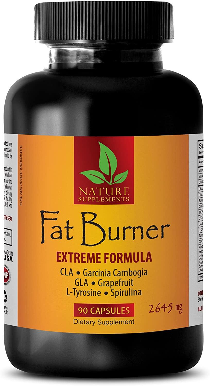 Fat Loss Capsules - Fat Burner - Extreme Formula 2645Mg - Cla Belly Fat Formula - Choline Bitartrate Capsules - 1 Bottle (90 Capsules)