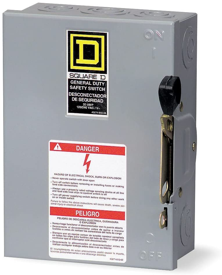 Square D DU322 60 Amp 240Vac Single Throw Safety Switch 3P