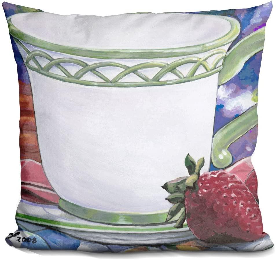 LiLiPi Tea Party Bear 2 Decorative Accent Throw Pillow