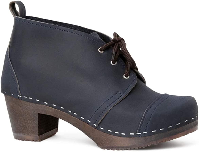 Sandgrens Swedish Handmade Wooden Clog Boot   Chukka Cap Toe