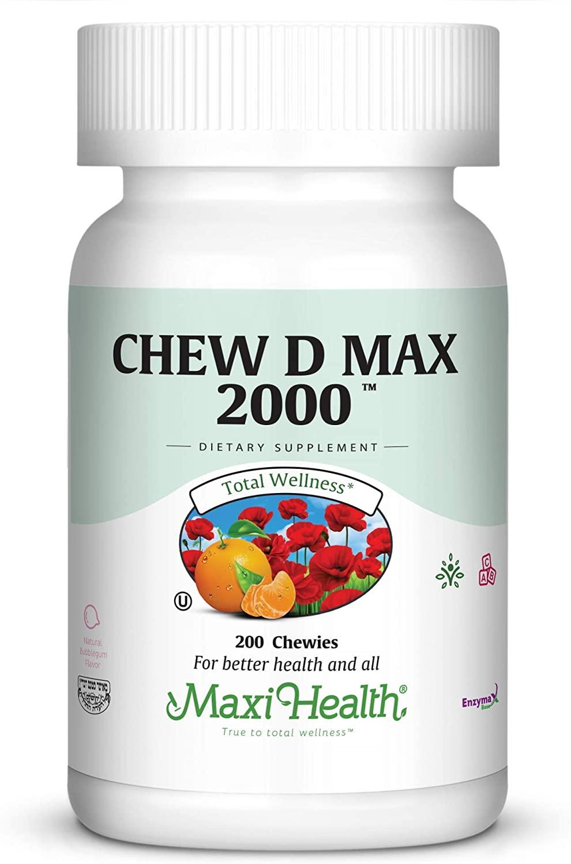 Maxi Health Chew D Max 2000, 200 Count
