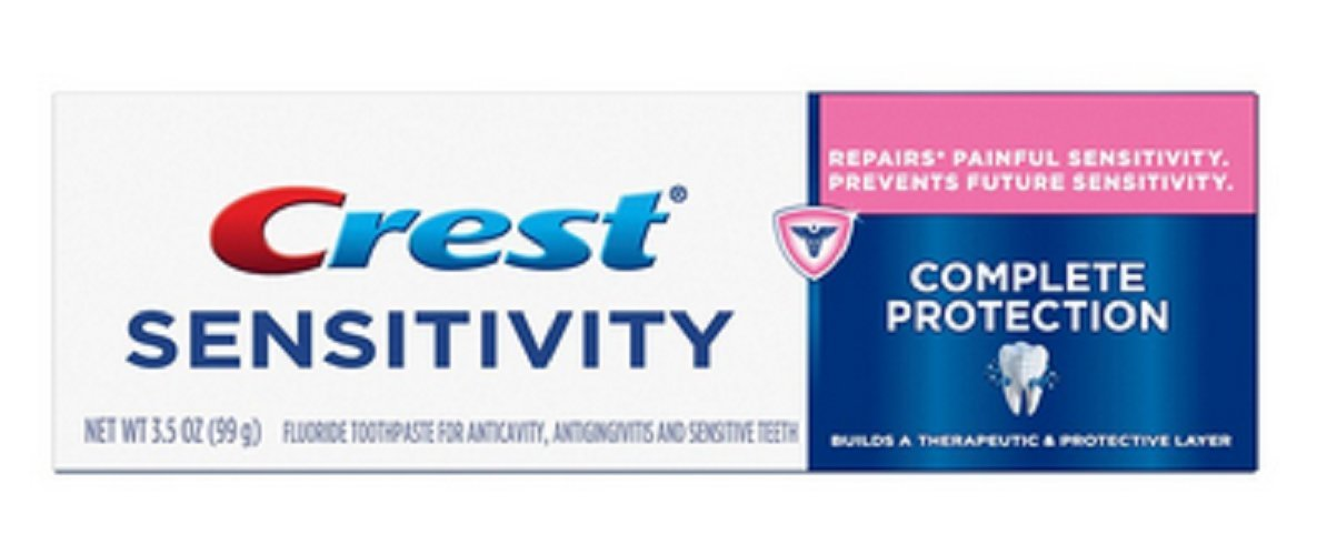 Crest Sensitivity Complete Protection Toothpaste, Smooth Mint, 3.5 oz (Pack of 7)