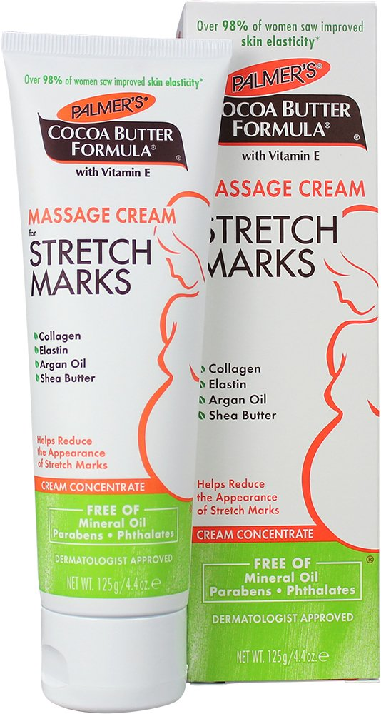 Palmer's Cocoa Butter Formula Massage Cream for Stretch Marks & Pregnancy Skin Care   4.4 Ounces (Pack of 2)