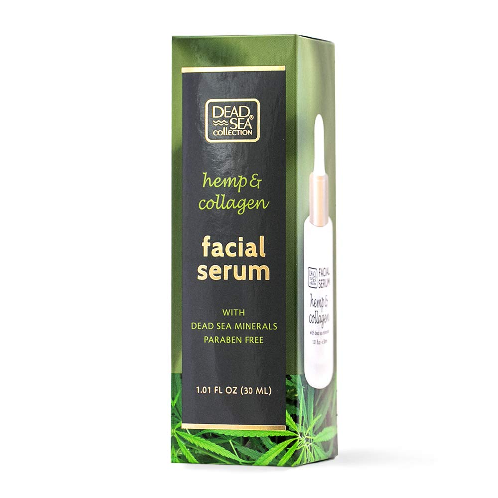 Dead Sea Collection Facial Serum with Hemp and Collagen helps keep skin look smooth and youthful