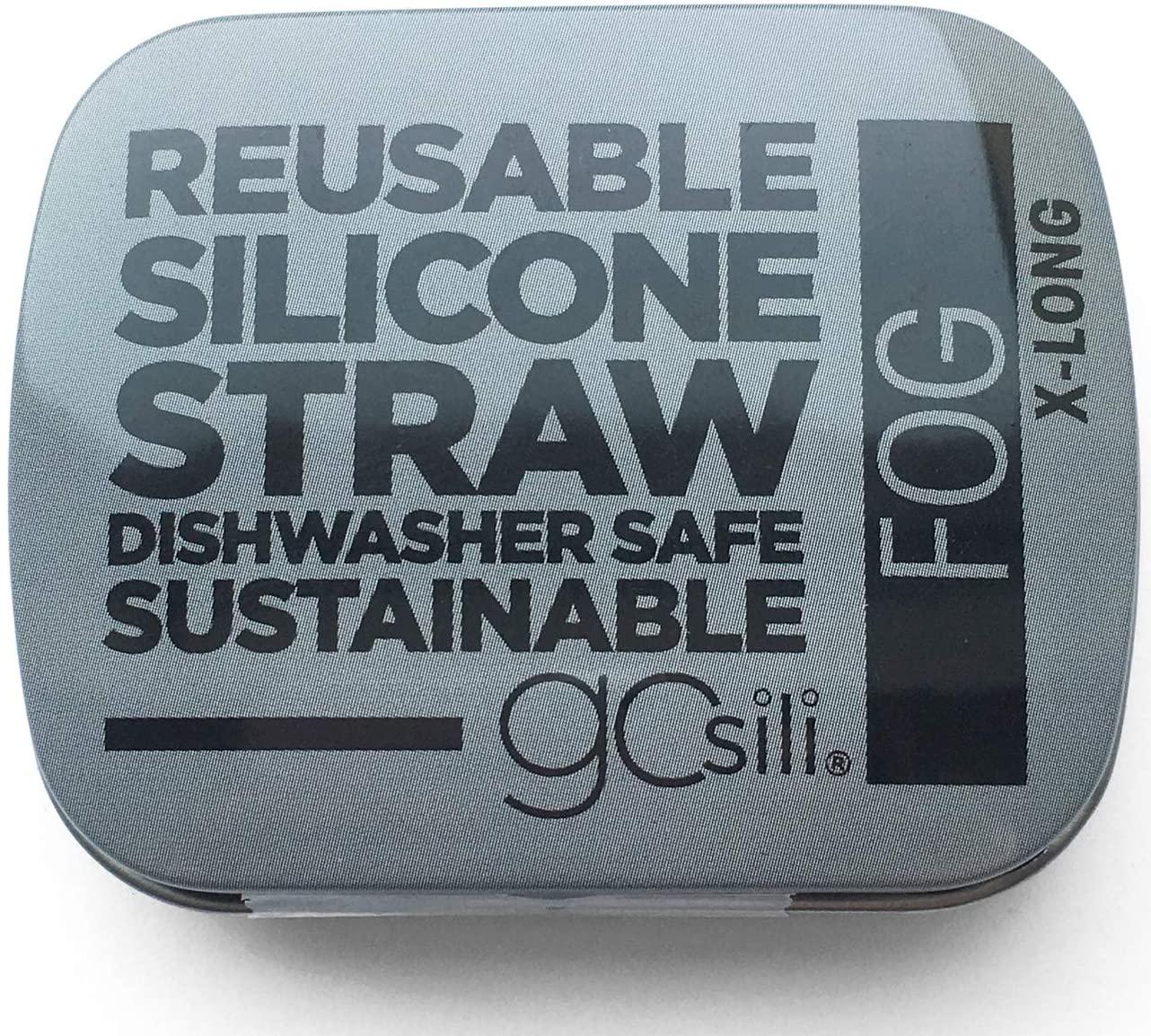 GoSili, Straw Travel Tin Fog Grey Extra Long