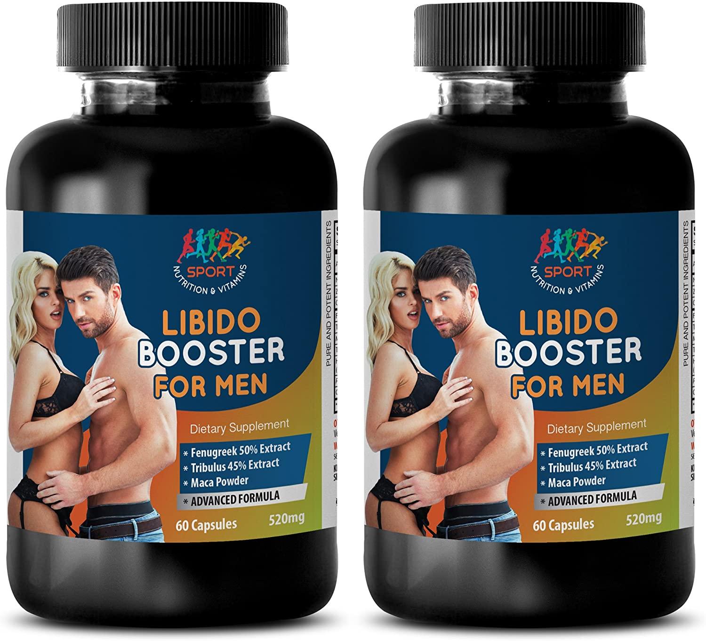 Sexual Enhancement Pills for Man – LIBIDO Booster for Men - l-arginine Best Naturals - 2 Bottle (120 Capsules)