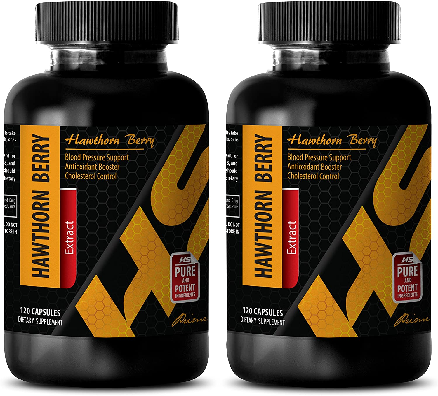 antioxidant Boost - Hawthorn Berry Extract 665 Mg - Dietary Supplements - Hawthorn Capsules - 2 Bottles (240 Capsules)