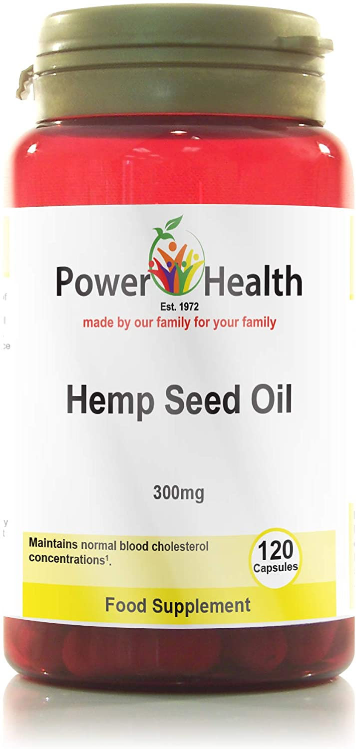 Hemp Seed Oil Capsules 300mg - 120caps