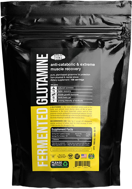 L-Glutamine, Gains in Bulk, 100% Pure Vegan, 500 Grams