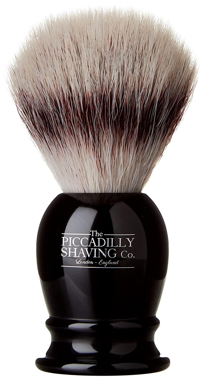 The Piccadilly Shaving Company 171 Synthetic Imitation Badger Shaving Brush, Black, 150 Gram