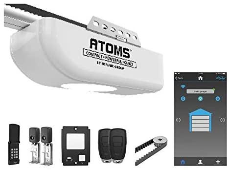 Atoms ATR-1622BKW by Skylink 1/2HPF Garage Door Opener with Alexa. Extremely Quiet DC Motor, Belt Drive and WiFi Compatible