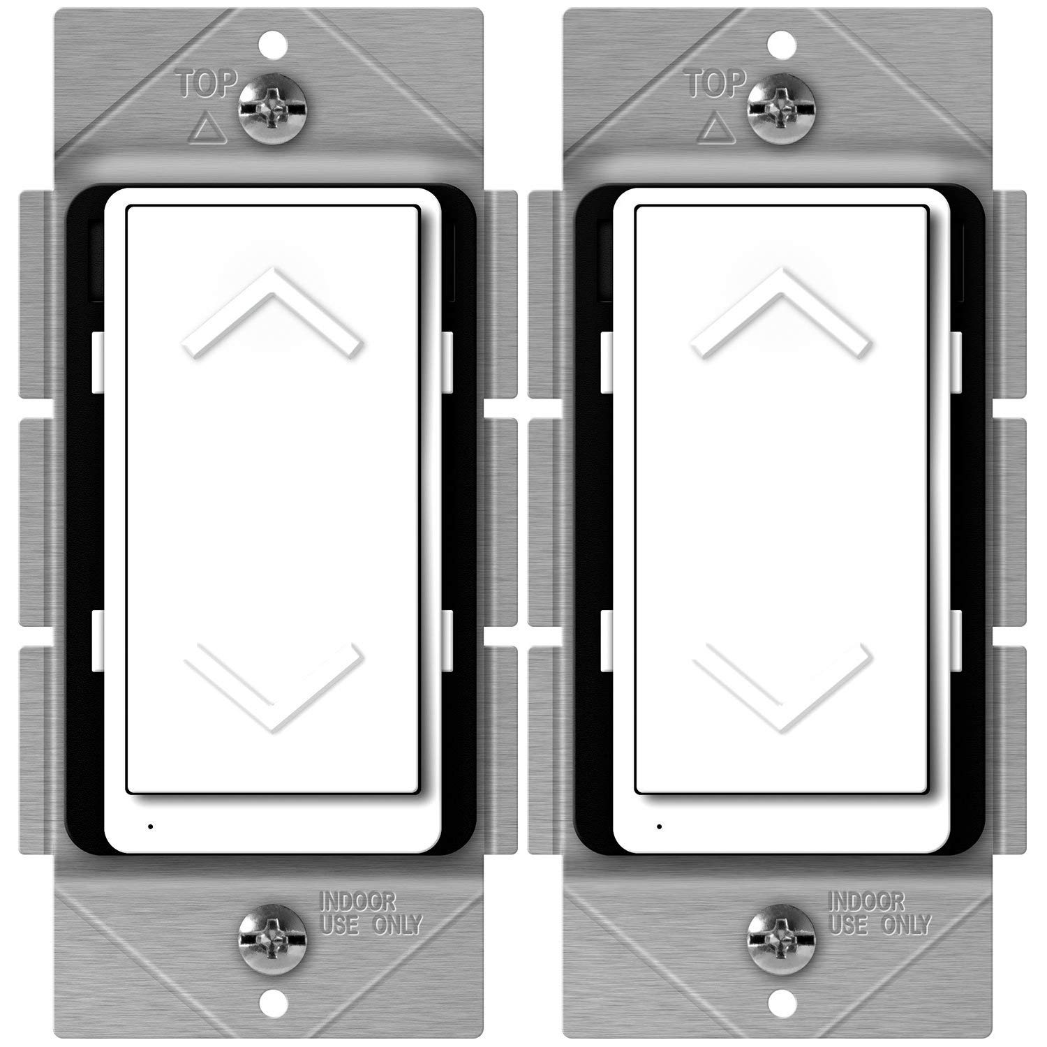 ENERWAVE Z-Wave Plus Dimmer, Smart Dimmer Switch for Z-Wave Home Automation, Z-Wave Dimmer Switch with Smart Meter Energy Monitor, Neutral Wire Required, Compatible with Alexa, ZW500DM-PLUS, 2-Pack