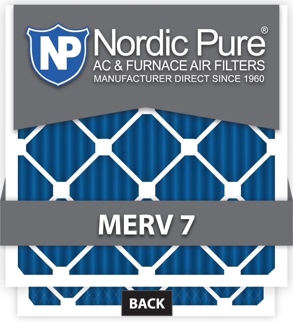 12x12x4 Exact MERV 7 AC Furnace Filters Qty 2
