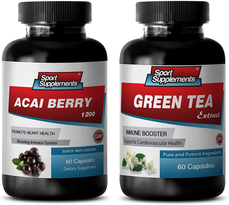 Fat Loss Vitamin - ACAI Berry - Green Tea - Combo - Green Tea Appetite suppressant - (2 Bottles Combo)