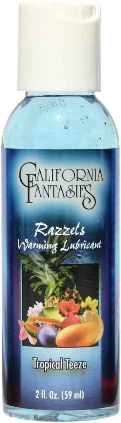 California fantasies - Razzels Warming Lubricant - 2 oz Tropical Teeze
