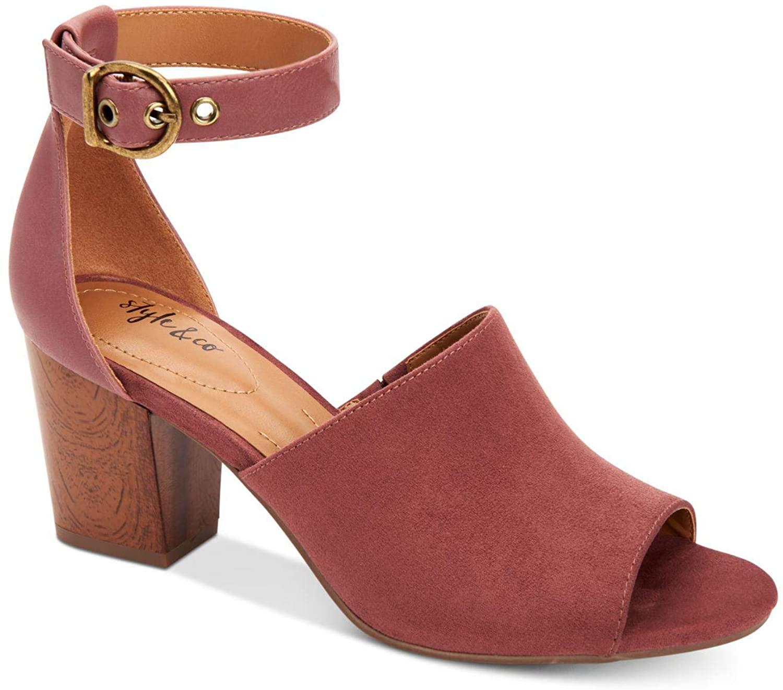 Style & Co. Womens Priyaa Faux Suede Block Heel Dress Sandals
