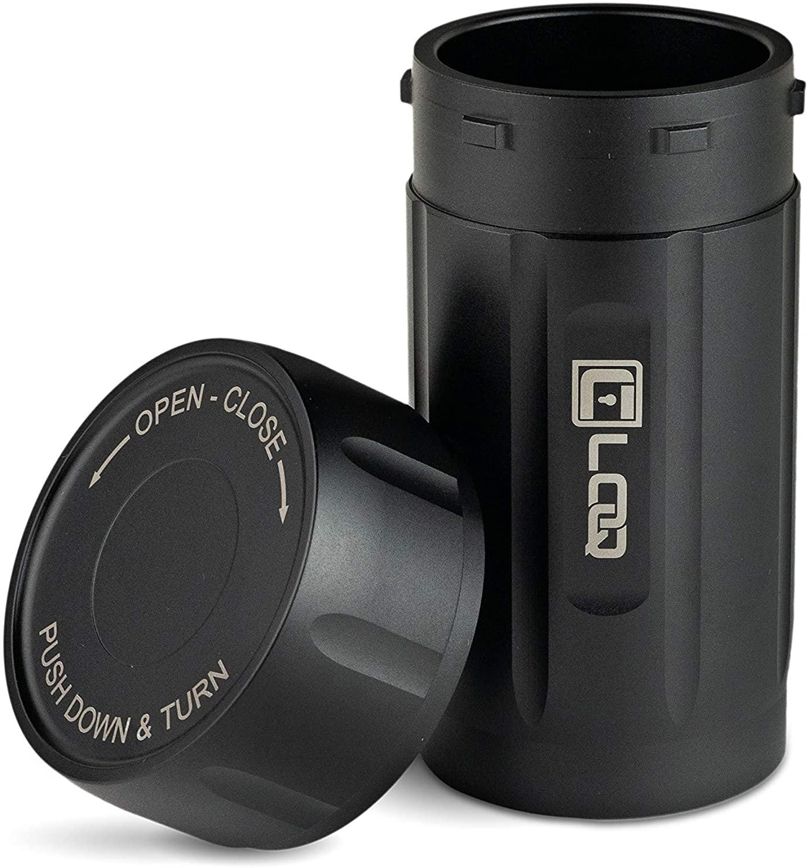 Corloq EDC120B Premium Airtight Pill Storage Container, Reinforced Polymer Waterproof Mini Medication EDC Emergency Survival Capsule