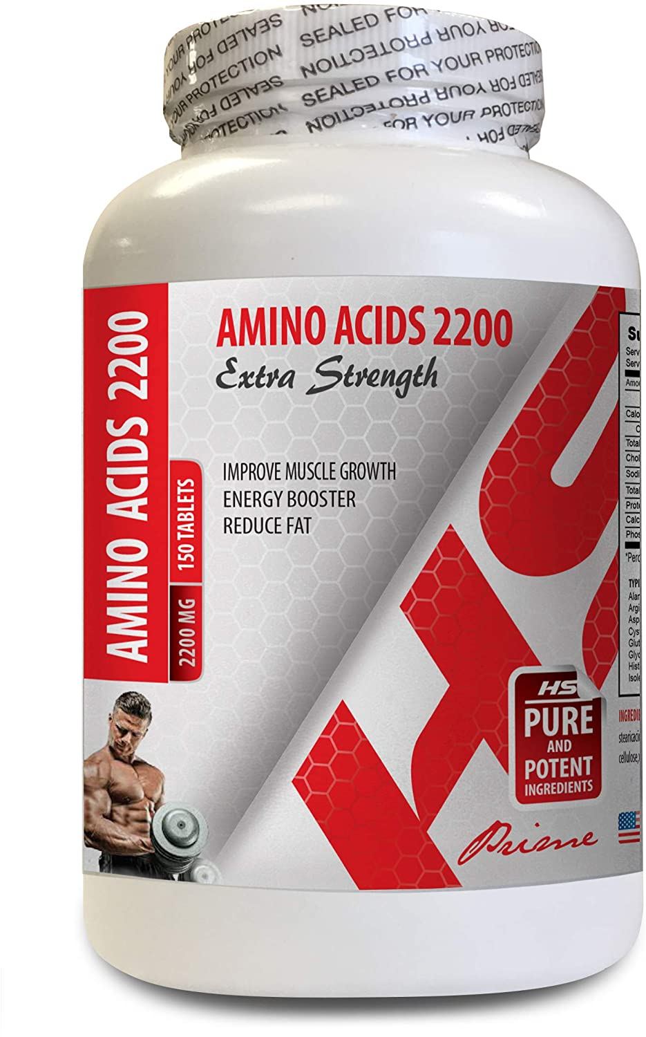 Energy Booster for Weight Loss - arginine Vitamins - Amino ACIDS 2200 - Energy Booster pre Workout - 1 Bottle 150 Tablets