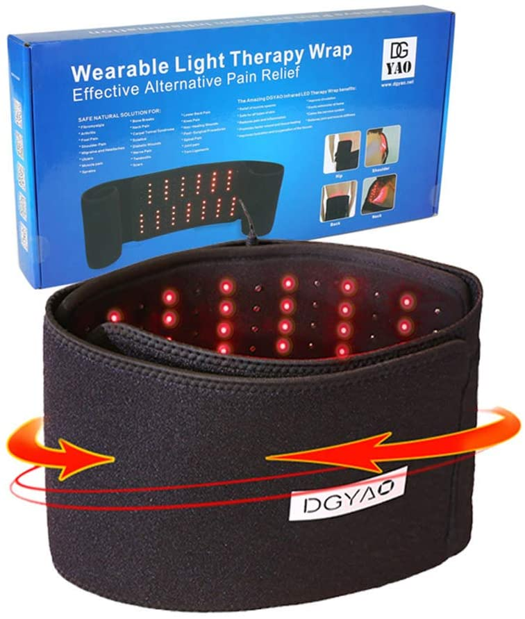 Red Light Near Infrared Therapy Led Benefits Back Pain Relief Home Use Wearable Wrap Deep Penetrating Heals Lighting Pads for Injury Arthritis Feet Joints Muscle Knee Elbow Inflammation Nerve Damage