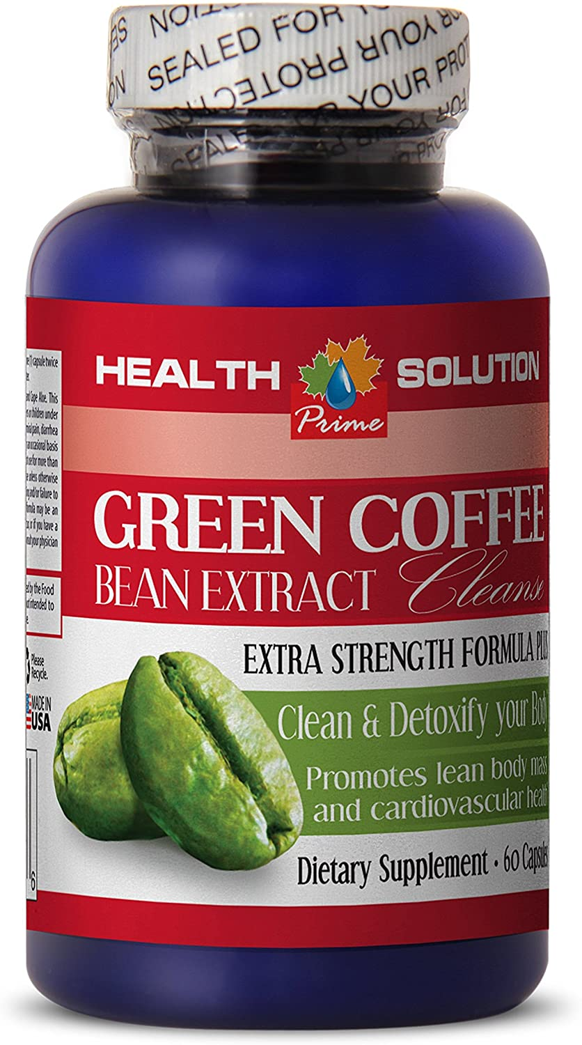 Green Coffee Bean Powder - Green Coffee Bean Extract Cleanse - Fat Burner 1 Bottle 60 Capsules