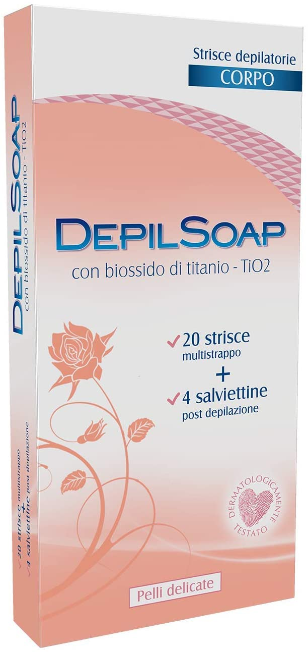Depilsoap Body Stripes with Titanium Dioxide, Delicate Skin - 20 Pieces