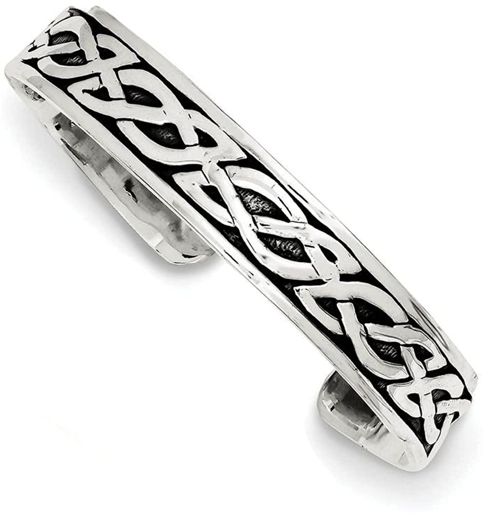 Finejewelers Sterling Silver 12.5mm Cuff Bangle Bracelet