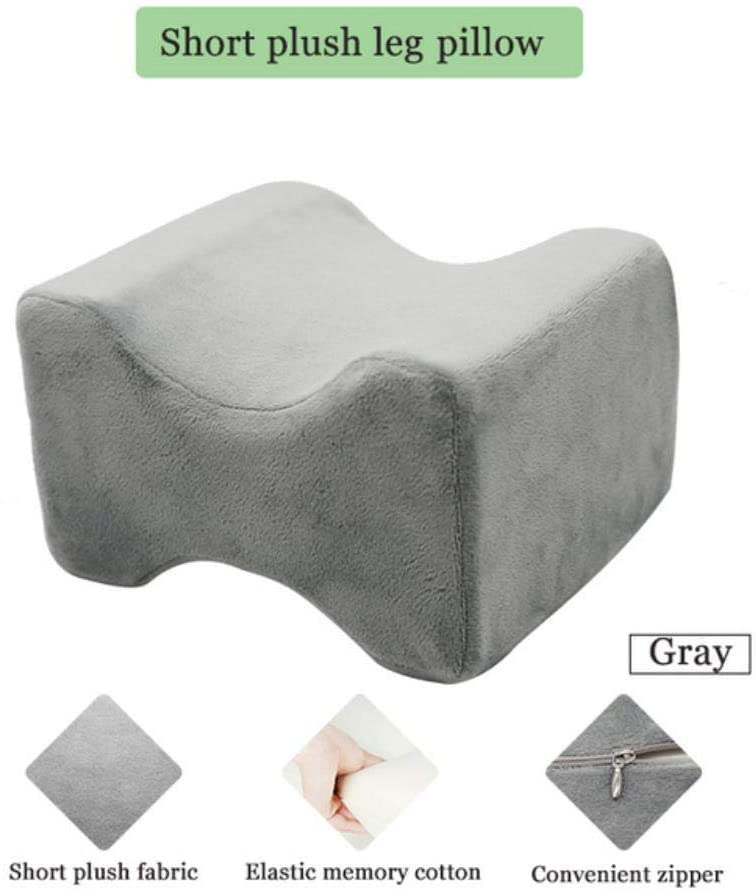SHIJING Leg Positioner Pillows Memory Foam Knee Wedge Pillow for Sleeping Sciatica Back Hip Joint Pain Relief Side Sleeper Body Pillows Leg Cushion,Gray