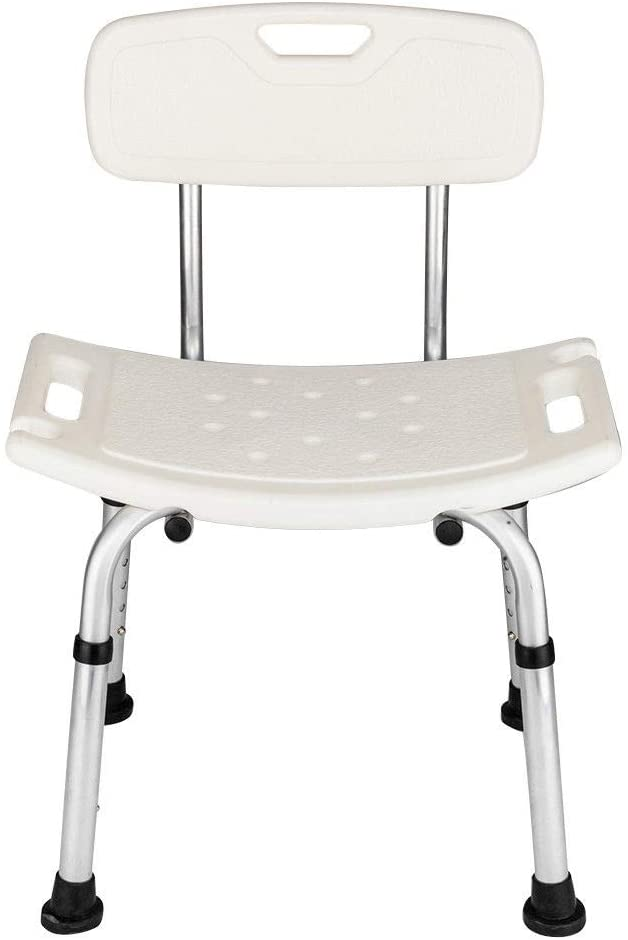 Adjustable Medical Bath Shower Chair Bathtub Bench Stool Seat Heavy Duty White