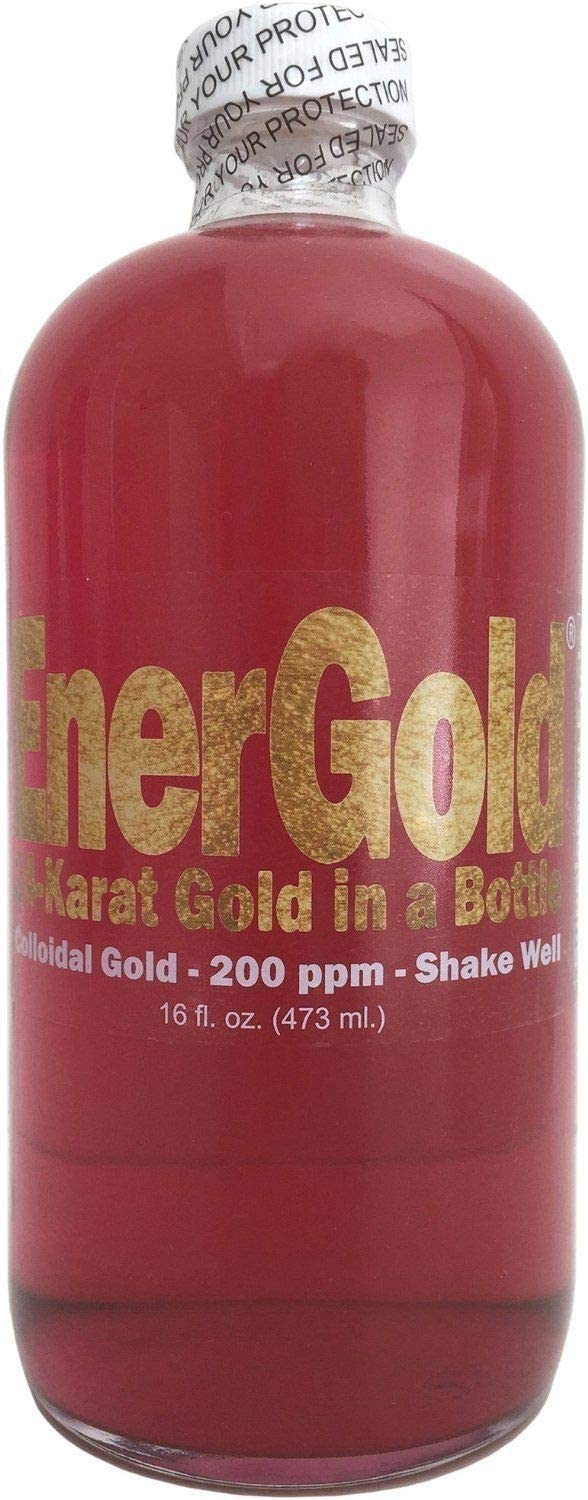 EnerGold® 10-Times-Concentrated 200-ppm Colloidal Gold - 32-Oz. (Two 16-Oz. Bottles)