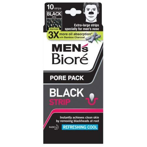 #MG Biore Men's Pore Pack Black 10s -Men's Biore Pore Pack Black cleans clogged pores & removes blackheads instantly