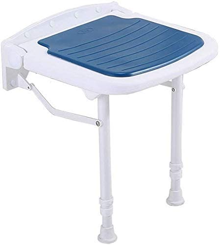 ZYL-YL Stools Bath Stool Antislip Shower Seat Stool Foldable Wall Shower Seat Stool Aluminum Alloy Height Adjustable Folding Chair High LoadBearing Folding Bath Stool Max. 300kgBlue
