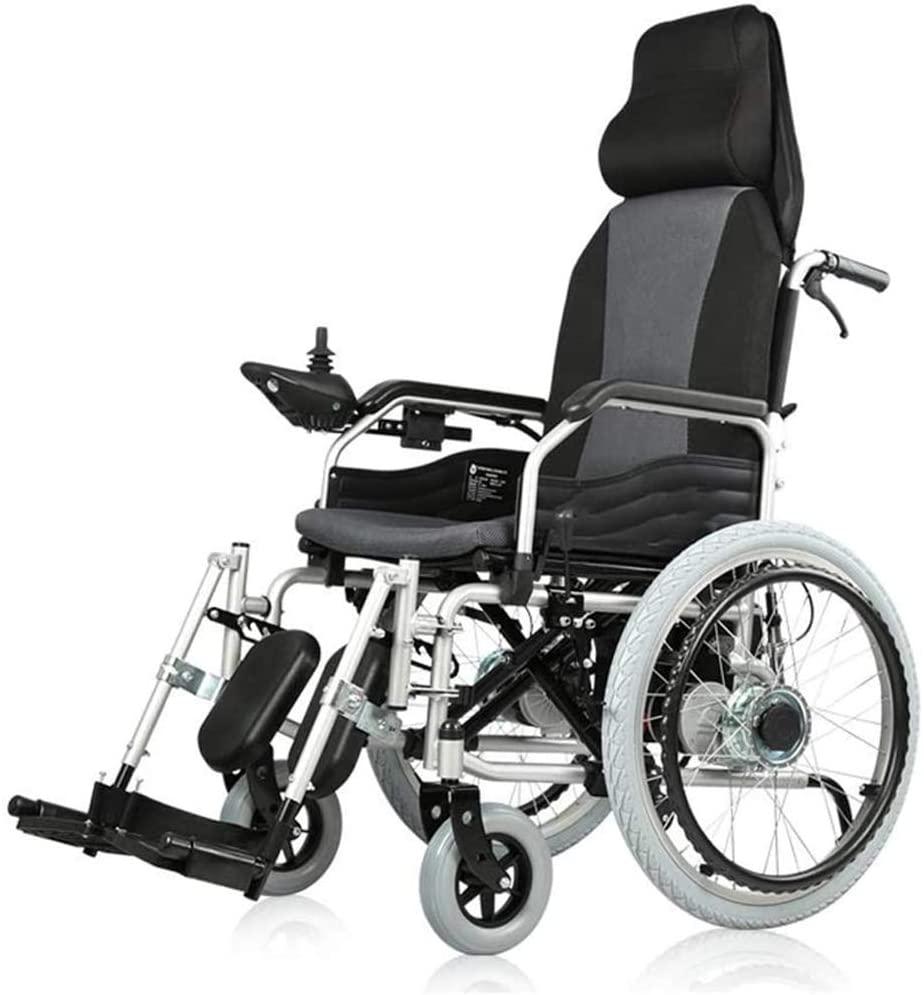 B&MF Intelligent Electric Wheelchair, Electric/Manual 2 in 1 Electric Mobility Aid Electric Wheelchair