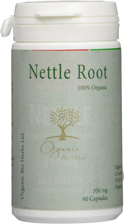 Organic Bio Herbs-Organic Nettle Root 350 Mg, 60 Capsules