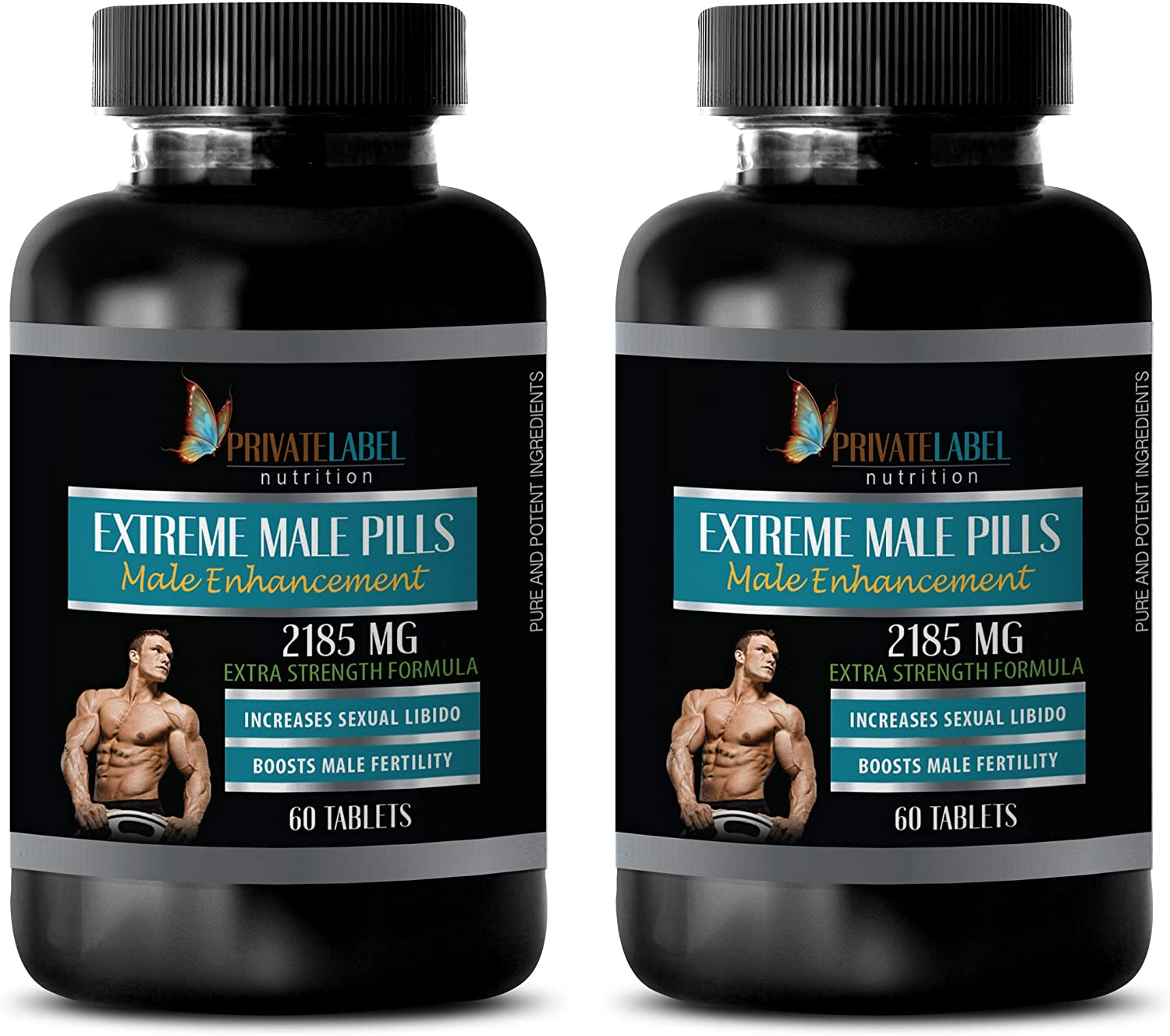 Male Enhancing Pills Increase Size and Girth - Extreme Male Pills 2185 Mg - Extra Strength Formula - longjack Extract supplemets - 2 Bottles 120 Tablets